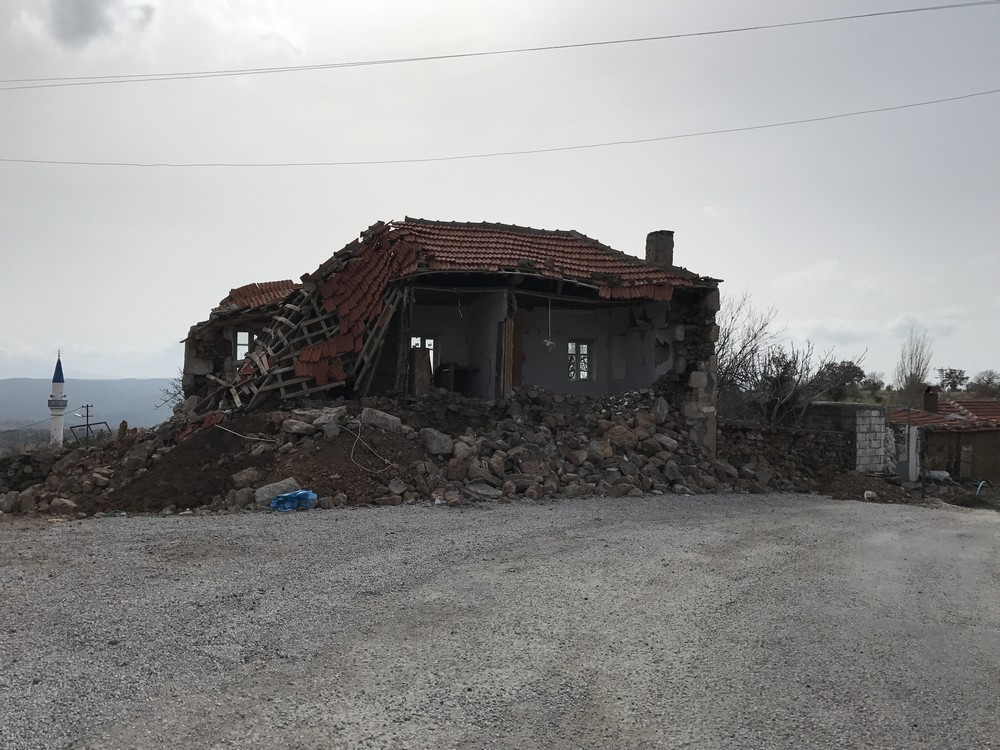 After the earthquake, Çanakkele region, Turkey
